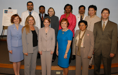 Front Row (L-R): Sarah Jackson, Nannette Nicholson, Leah Hennings, Carol Roddy, Lilia Compadre, Tom Best; Back Row (L-R): Muhannad Heif, Anjan Sinha, Angela Titherage, Zenobia Harris, Vinay Kutagula, Marilyn Pacheco